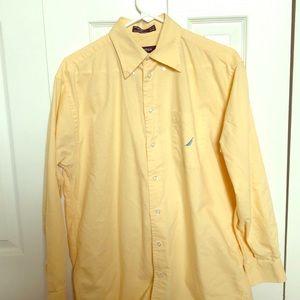 💛🔆NAUTICA MEN'S yellow Dress/Casual shirt 🔆💛